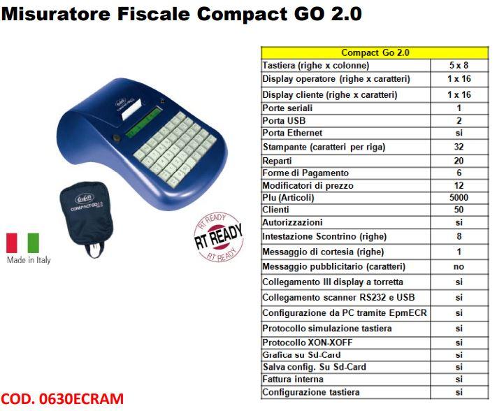 REGISTRATORE DI CASSA TELEMATICO COMPACT GO 2.0