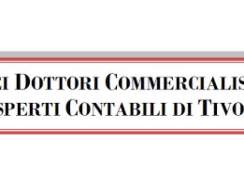 Convenzione tra Ordine dei Dottori Commercialisti e degli Esperti Contabili di Tivoli e Puntocontabile s.n.c.